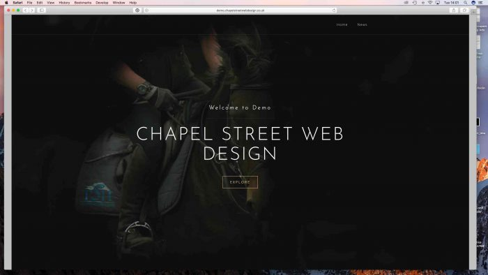Demo website by Chapel Street Web Design Services